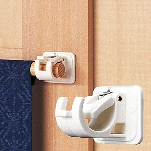 Happy household Adhesive Curtain Rod Bracket for Hanging net Curtain, Voile, Party Decoration, Garden Decoration or DIY Within The Home or Garden