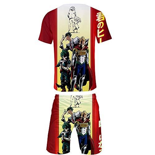 Preisvergleich Produktbild WOONN Shorts und Kurze Ärmel,  Meine Heldenakademie Bedruckte Shorts passen zu Sport,  Freizeit,  Pyjama