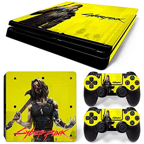 FENGLING PS4 Slim Stickers Skin Decal Cover para PS4 Slim Console & Controller Skins