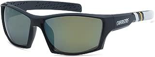 Siskiyou NFL Striped Team Sports Wrap Polarized Sunglasses (Los Angeles Chargers, Navy | Yellow Polarized)