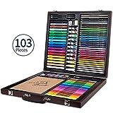 Lápices de colores Pastel del aceite aguada del pigmento de la pintura del bosquejo determinados de la pintada de la pintura de acuarela Lápices Plumas de pincel color 103 PC / paquete para Colorear A