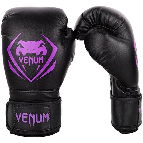 Venum Contender Boxing Gloves - Black/Purple - 16-Ounce