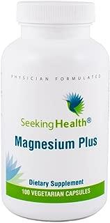 Magnesium Plus   Vitamin B6 Plus Magnesium Supplement   100 Vegetarian Capsules   Seeking Health   Physician Formulated