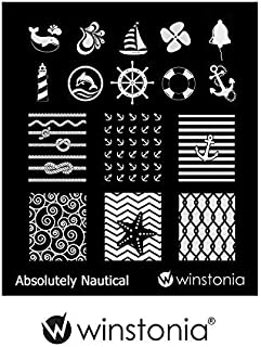 Winstonia Nail Art Stamping Image Plate - Absolutely Nautical
