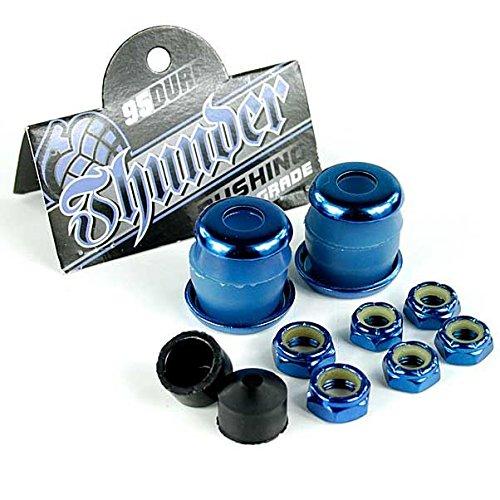 Thunder Rebuild Kit Blau 95A Lenkgummis/Unterlegscheiben/Achse und Kingpin Muttern/Pivot Cups