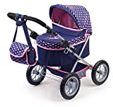 Bayer Design 1305200 Puppenwagen Trendy, höhenverstellbar, zusammenklappbar, Motiv: Fee, dunkelblau