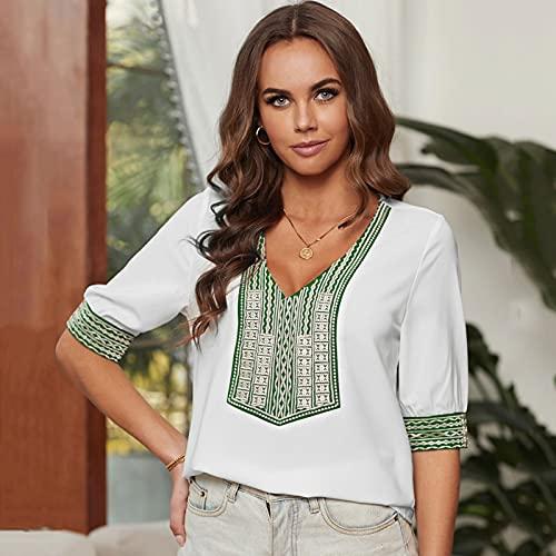 Zcbm Sommer Tshirt Damen Kurzarm O-Ausschnitt Rundhals Shirt Kurzarm Stretch Shirt