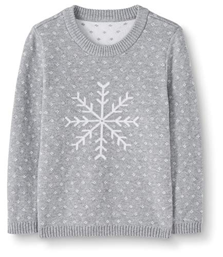 Moon and Back Holiday Sweater novelty-sweaters, Grau meliert, 5 Jahre (107-117 CM)