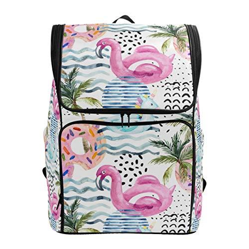 Mokale Aquarell Nahtlose Muster Cartoon Pool schwimmt,Rucksack Rucksack Reisetasche Wanderrucksack College Student School Bookbag Reisetasche für Männer oder Frauen