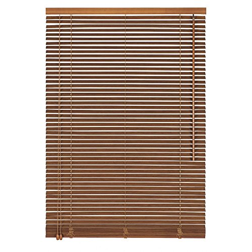 Easy-Shadow Holzjalousie Holz-Jalousie Bambus Jalousette Echtholz Rollo Jalousette 105 x 150 cm / 105x150 cm in Farbe hellbraun - Bedienseite links // Maßanfertigung