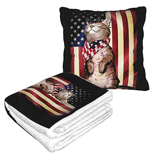 XCNGG Colección de Franela Americana Cat Soft Cozy, Cama o sofá, Mantas de Almohada