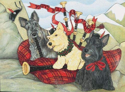 Animal Theme Gifts Scottish Terrier Philadelphia Mall Cards Dog Christmas Scottie 70% OFF Outlet