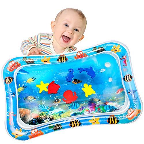 Yosemy Alfombra Inflable del Agua para Bebé Inflable Tapete de Bebés Estera de Agua de PVC Entretenimiento de Agua y la Estimulación del Crecimiento de Bebé