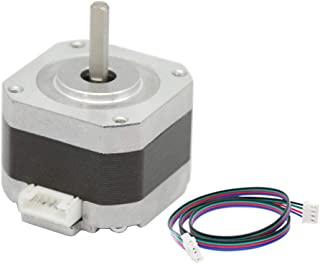 Iverntech Nema 17 Stepper Motor 42x34mm Body 1.8 Stepper Angle 1.5A 2 Phase 4-Lead with 1M Cable for 3D Printer or CNC Machine