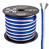 Skar Audio 10 Gauge Elite Oxygen-Free Copper Audio Speaker Wire - 30 Feet (Blue/White)