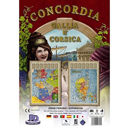 Rio Grande Games RIO541 Gallia und Korsika: Concordia Exp, Mehrfarbig