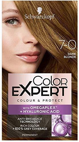 Schwarzkopf Color Expert Dunkelblond Haarfarbe mit Omegaplex + Hyaluronsäure 7-0 Dunkelblond, 3er Pack (3 x 3 Stück)