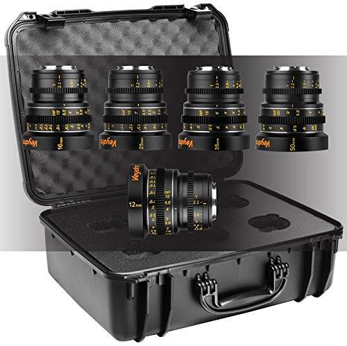 Veydra V1-5LENSKITCASEM Mini Prime Videoobjektiv Set mit 5 Brennweiten für Micro Four Thirds (12/16/25/35/50mm, Objektivkoffer)