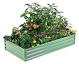 YCHUAN Camas elevadas sembradoras Cama de jardín elevada de Metal al Aire Libre Grande Plantilla Cuadrada Caja for Verduras Kit de Cama de FLO-Res (Color : Verde Chiaro)