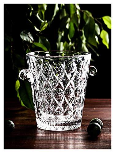 Vidrio libre de plomo Pequeño Barmer Carving Bar KTV Cocktail Ice Champagne Bucket 1.5L