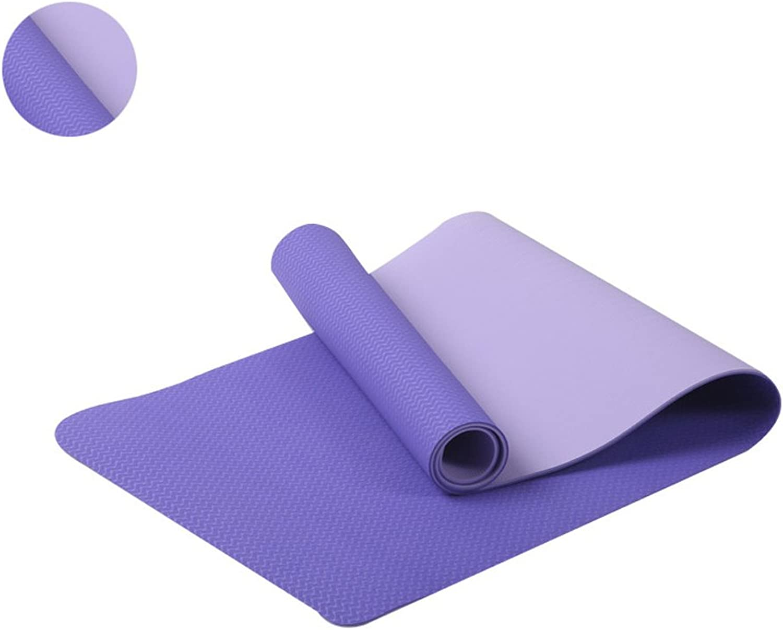 TYCXYD Yoga-Matte - Dick Eco Friendly Premium-TPE-Yoga-Matten.Non Slip, Wende, leicht, dauerhaft übung Pilates Mat. Yoga Matte (Farbe   Blau)