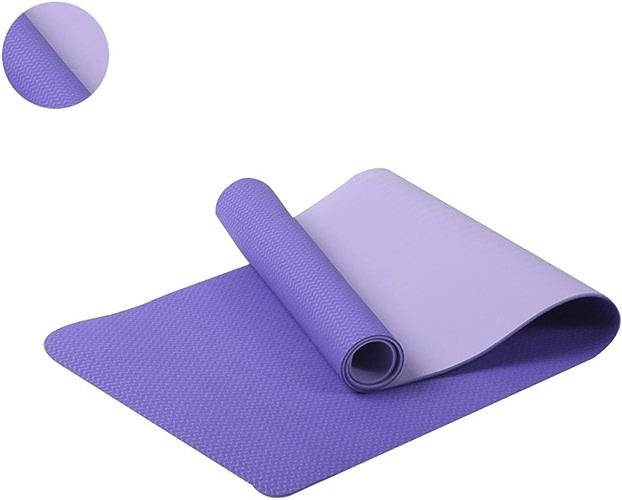 FDSjd Tapis de Yoga pour débutant Dansant de Yoga pour débutant et Anti-dérapant Tasteless élargi et allongé (Couleur   Violet, Taille   6mm)