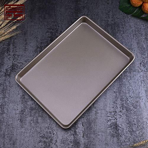Plateau de barbecue carré rectangulaire de haute qualité Ustensiles de cuisson anti-adhésif champagne plateau profond doré-24 * 24 * 4,5 cm