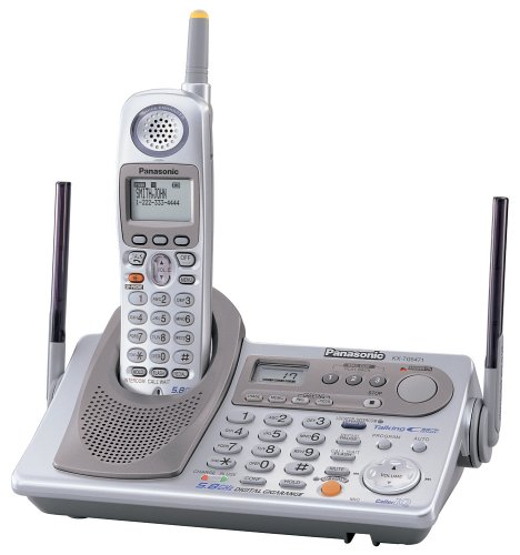 Panasonic GigaRange KX-TG5471S 5.8 GHz DSS Cordless Phone with Answering System