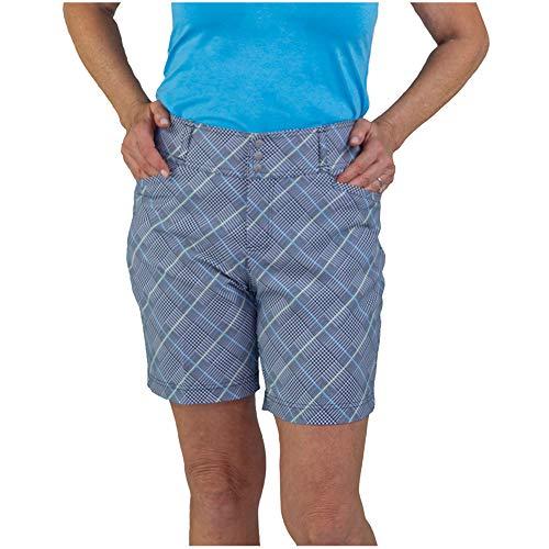 Jofit Apparel Women's Athletic Clothing Playoff Short for Golf & Tennis, Size 4, Glen Plaid
