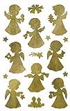 AVERY Zweckform Art. 52393 Aufkleber Weihnachten 32 Engel (Weihnachtssticker, transparente Folie,...