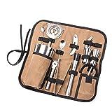 Bartender Kit Roll Bag, Mixologist Caso, Portátil Grande Bar Case Bag, Hogar y lugar de trabajo Coctelera Bolsa de herramientas para viaje