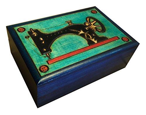 Sewing Box Polish Handmade Wood Art Keepsake Unique Masterpiece