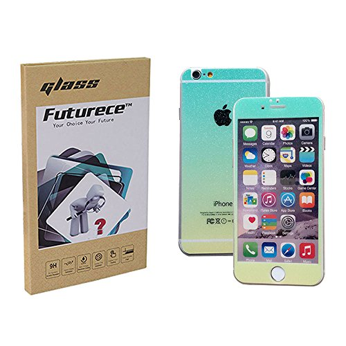 """Green Yellow Colorful Tempered Glass Screen Protector For iPhone 6 / iPhone 6S Security Guard Film Extreme Clarity Shield Anti Scratch Fingerprint Resistant Explosion Proof Oleophobic 4.7""""Screen"""
