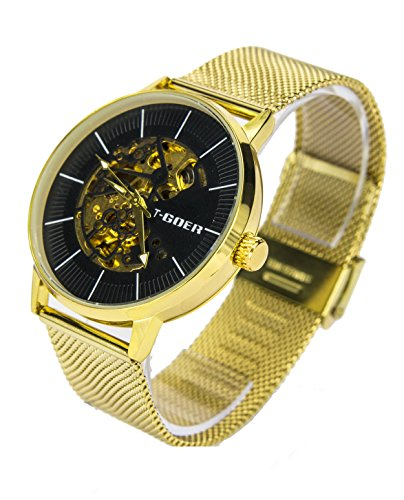 Reloj Automático Goer Fondo Negro 1023