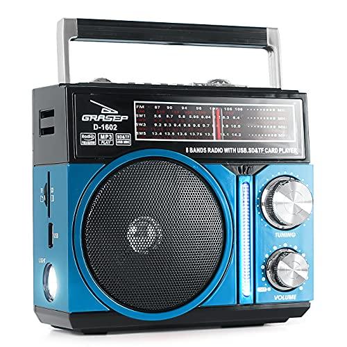 Aparelho Receptor de Radiofusão- AM/FM/SW1-6 D-1602