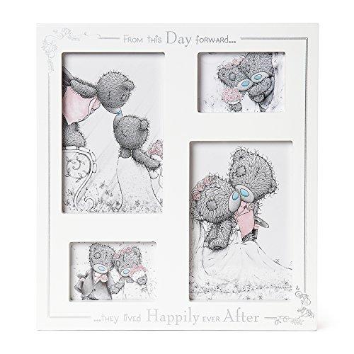 Me To You G01F1008 Happily Ever After Wedding Day Bilderrahmen, 4 Fotos, Multi-Blende
