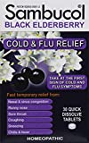 Sambucol Black Elderberry Cold & Flu Relief Tablets 30 Count, Homeopathic Remedy...