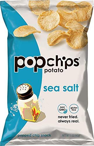 Popchips Potato Chips, Sea Salt, 0.8 Ounce (Pack of 24)