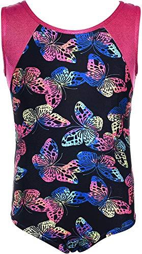 Dancina - Maillots de Gimnasia Leotardo para Niña 6-7 años Butterflies