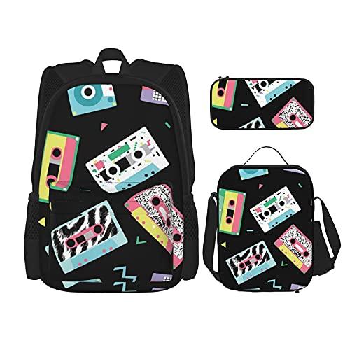 Mochila de viaje de los años 80 de los años 90 Retro Club Daypack de escuela secundaria universidad unisex bolsa de hombro bolsa de viaje bolsa de hombro bolsa de senderismo almuerzo caja