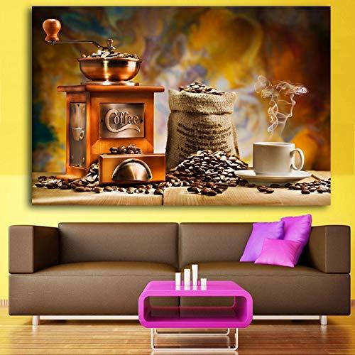baodanla Frameloze olieverfschilderij Moderne olieverfschilderij Ng muurschilderijen voor keuken kamerdecoratie schilderijen voor restaurant 3 S klassieke koffie