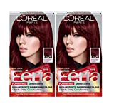 L'Oreal Paris Feria Multi-Faceted Shimmering Permanent Hair Color, R48 Intense Deep Auburn, Pack of 2, Hair Dye