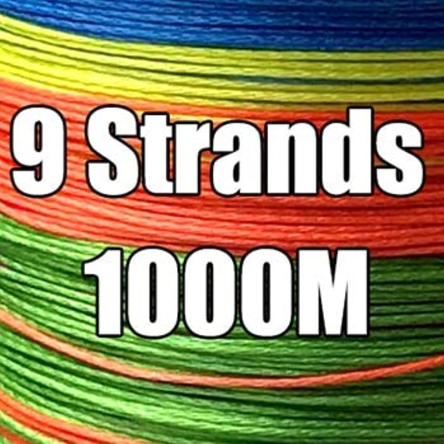 GHOTDA 300M 500M 1000M 4 Strands 8 Strands 9 Strands Multicolor PE Braided Fishing Line Sea Salt Wire 9 Strands 1000M, 8.0