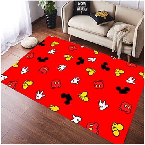 zzqiao Cute Cartoon Mickey Mouse Girl Room Alfombra Protección del Medio Ambiente Alfombras Antideslizantes Alfombras Habitación Infantil Sala De Estar Baño Dormitorio 70 * 140Cm