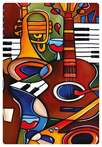 Metalen bord 20x30cm muziekinstrumenten schilderij afbeelding kunst bont bord Tin Sign
