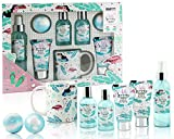 BRUBAKER Cosmetics - Coffret de bain & douche - Noix de coco/Flamant rose - 8 Pièces - Mug en...