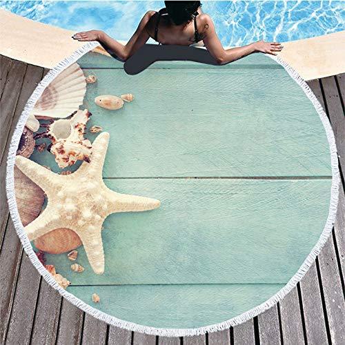 AGAGRG Redonda Toalla Playa,Toalla De Playa De Microfibra con Estampado De Pentagrama: Arena Extragrande De Secado Rápido Y Ligero: Esta Toalla De Viaje Nadar En La Playa, Gimnasio, Yoga,