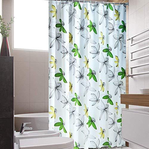 HXR Douchegordijn, kleurrijk douchegordijn, voor badkamer, verdikking, waterdicht, bestand tegen meeldauw, voor badkamer, blokkering, scheidingsgordijn, eenvoudig douchegordijn, douchegordijn, J