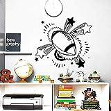 Stickers Muraux Stickers Muraux Créatifs Ballon De Rugby Sport Decal Nursery Garçon Chambre Vinyle Amovible Wall Sticker Home Decor Art Papier Peint 63X56Cm