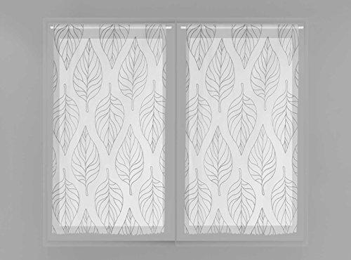 Soleil d'ocre Paire de brise bise 45x90 MAUD gris, Polyester, 45x90 cm